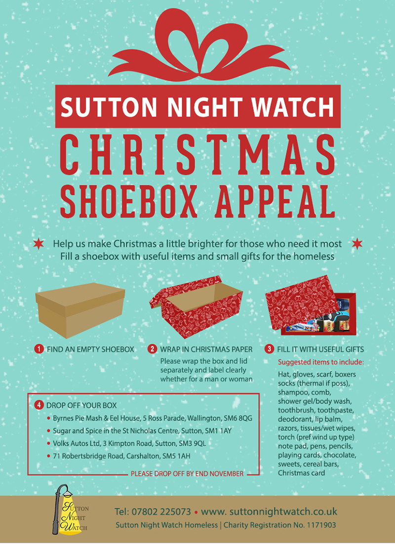 Christmas Shoebox.Christmas Shoebox Appeal Sutton Night Watch