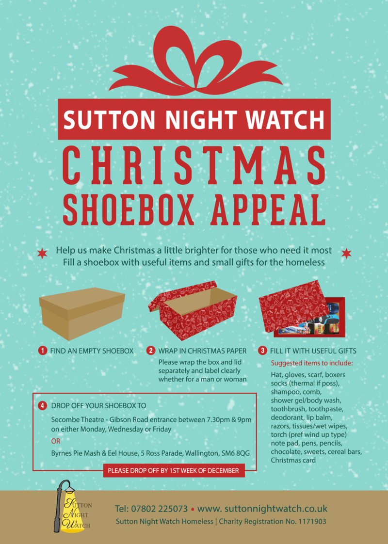 Christmas Shoebox Appeal 2019.Christmas Shoebox Appeal 2018 Sutton Night Watch